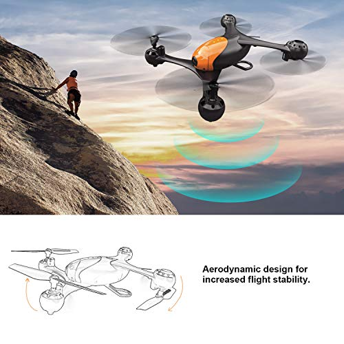 The Schark Spark SS41 Beetle Drone Quadcopter hovering over a cliff climber